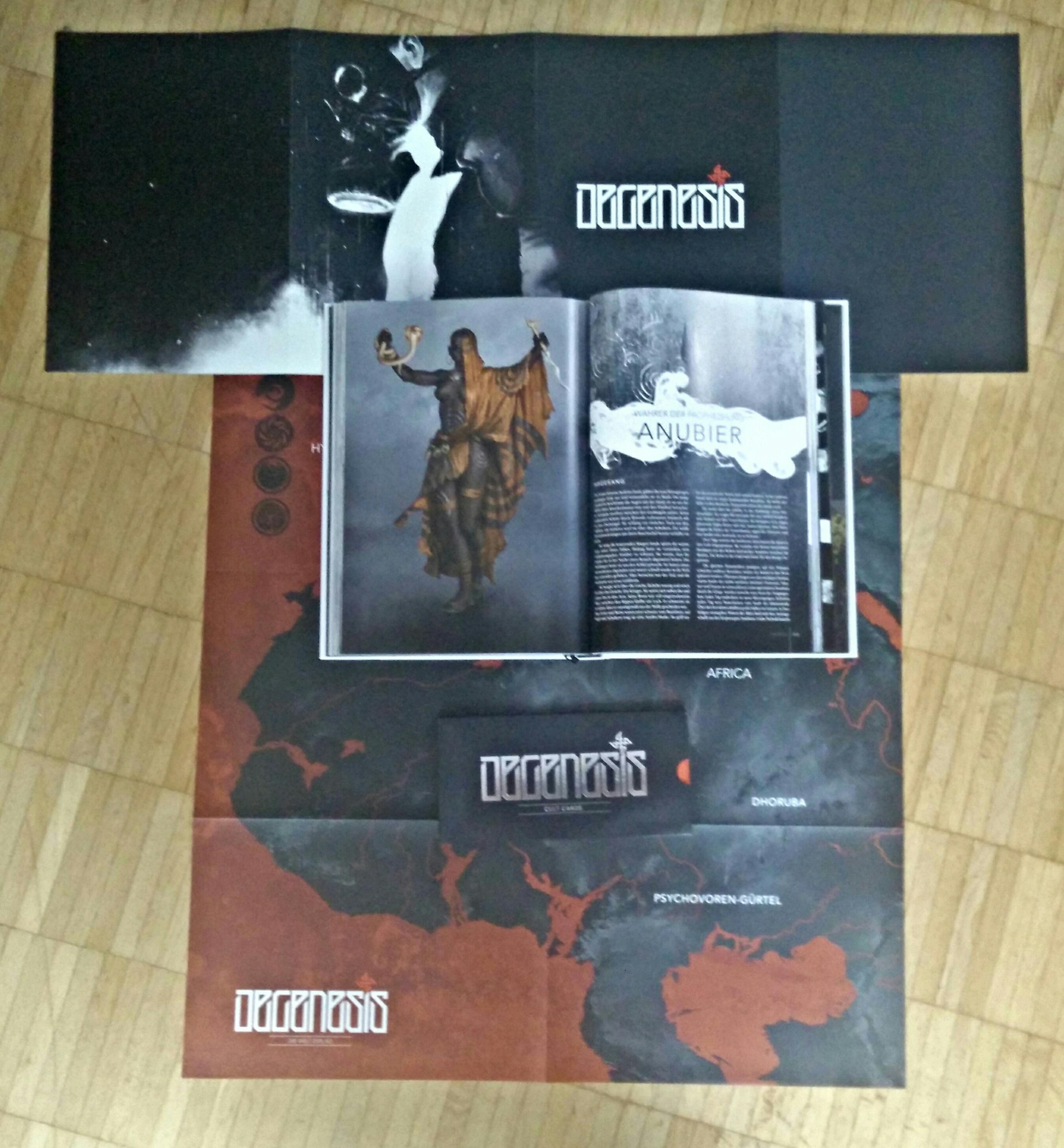 Degenesis: Rebirth Edition - Doppelseite aus Primal Punk, der Weltbeschreibung (Image: obskures.de)