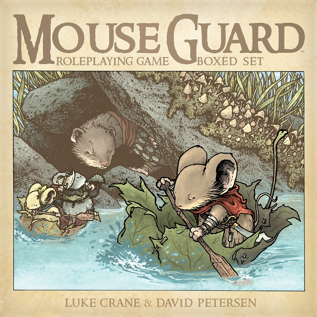 Mouse Guard Roleplaying Game Boxed Set (Image: David Petersen/Boom Studios/Archaia Entertainment)