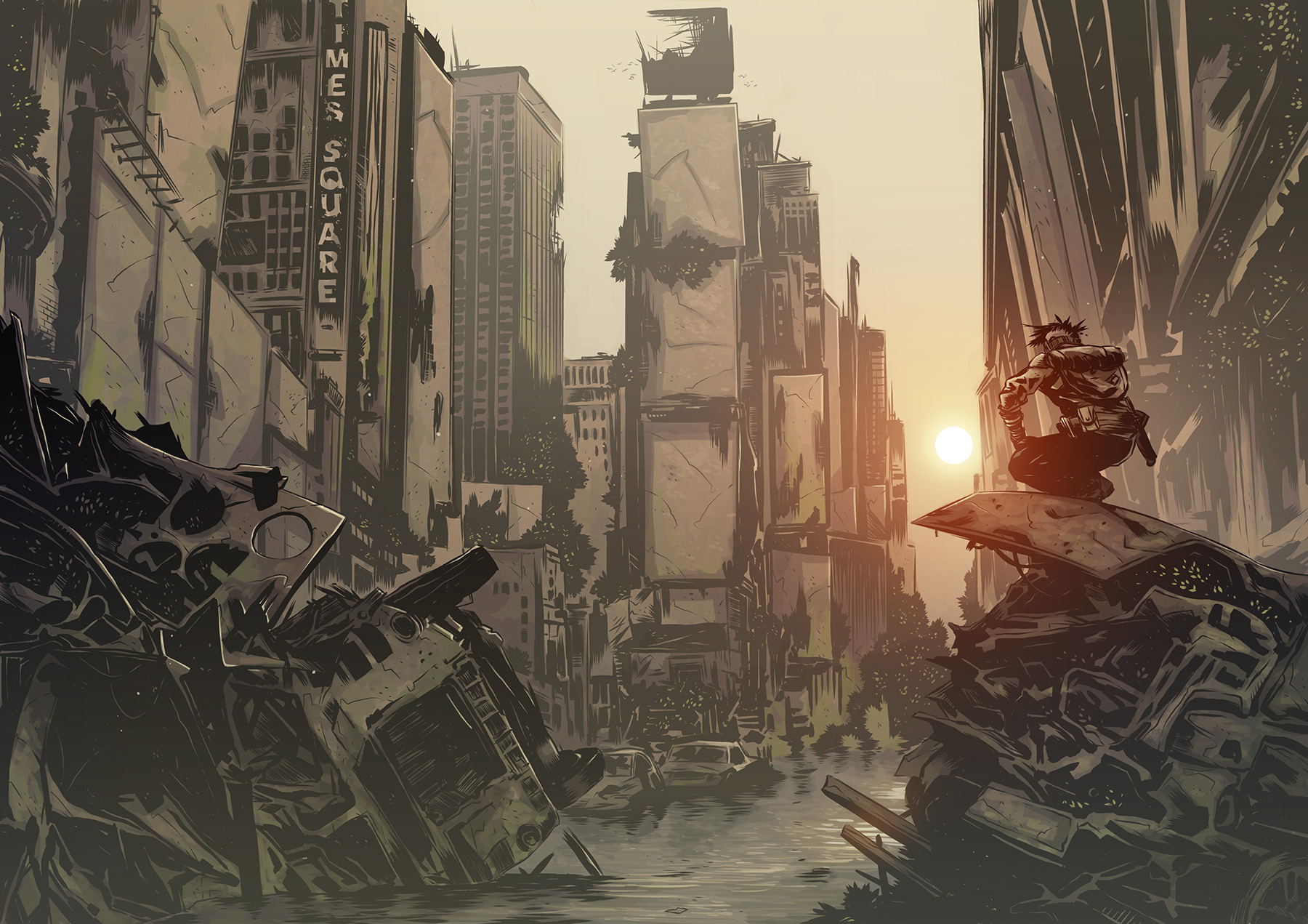 Mutant: Year Zero New York Zone (Image: Modiphius Entertainment/Fria Ligan AB)