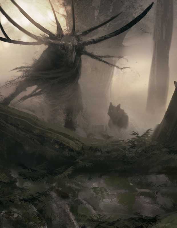 "Symbaroum RPG: ""They are called abominations, the blight-stricken creatures that have been twisted by the corrupt powers of Davokar. Some of them were once humans or beasts, some came into being during the age of Symbaroum, others are said to have walked the earth since the dawn of time."" (Image: Järnringen)"