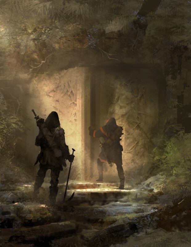 "Symbaroum RPG: ""The closer you get to the heart of Davokar, the greater is your chance of finding well-preserved ruins. On the other hand, the further you travel, the longer is the way back home – which can be less than ideal if you happen to encounter a cryptwalker, a necromage or some famished arch troll …"" (Image: Järnringen)"