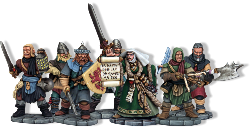 Frostgrave Soldiers with Sigilist Wizard (Image: North Star Military Figures Limited & Osprey Games 2015)
