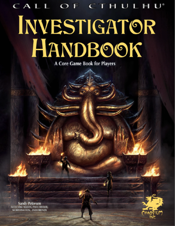 Call of Cthulhu 7th Edition: Investigators Handbook (Image: Chaosium Inc.)