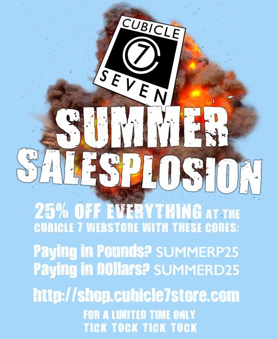 Cubicle 7: Summer Salesplosion (Image: Cubicle 7)
