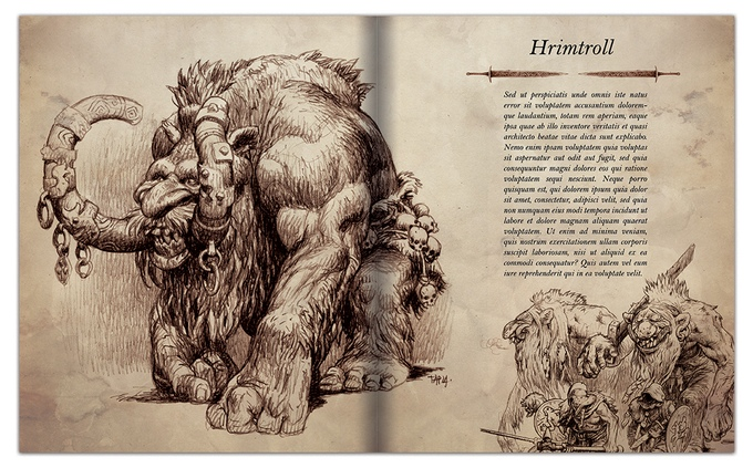 The Fabulous Art of Trudvang: Hrimtroll (Image: Paul Bonner / Riotminds)