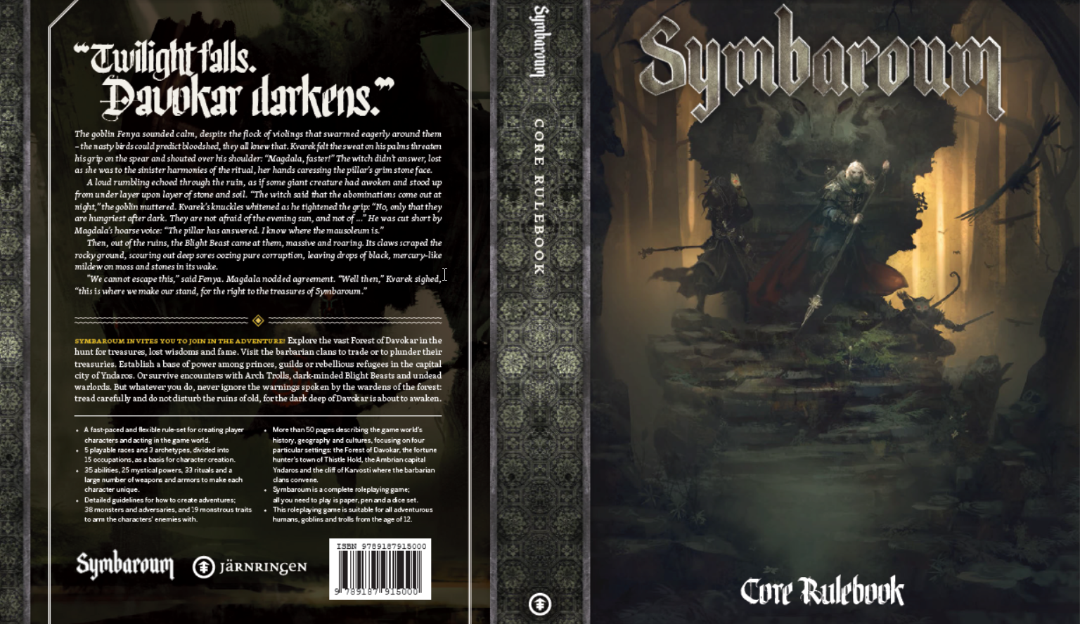 Symbaroum RPG Cover (English version, Image: Järnringen)