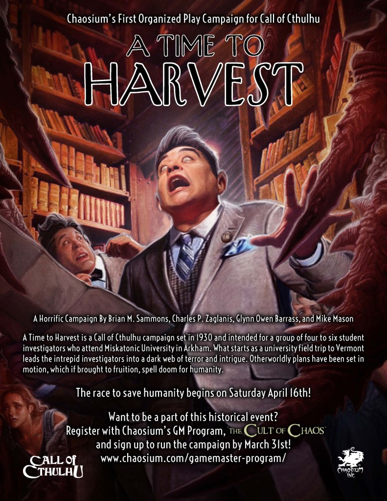Call of Cthulhu: A Time to Harvest (Image: Chaosium)