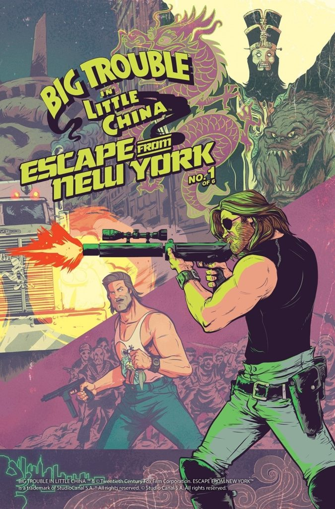 Big Trouble in Little China Escape From New York Crossover (Image: Daniel Bayliss / Boom! Studios)