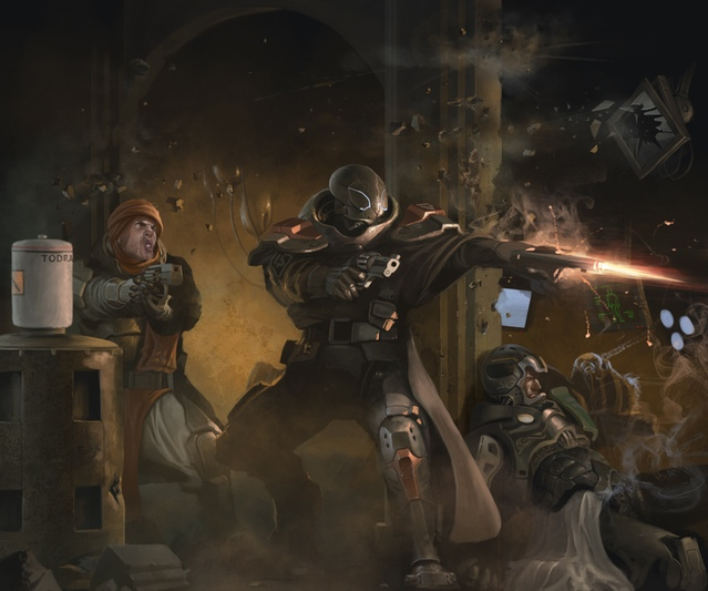 Coriolis - The Third Horizon: Space ninjas? (Image: Fria Ligan / Free League Publishing)