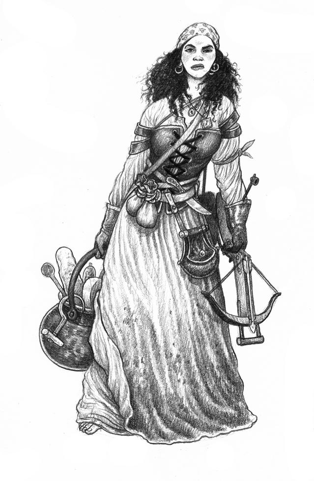 ZWEIHÄNDER Grim & Perilous RPG: Camp Follower (Image: Grim & Perilous Studios)