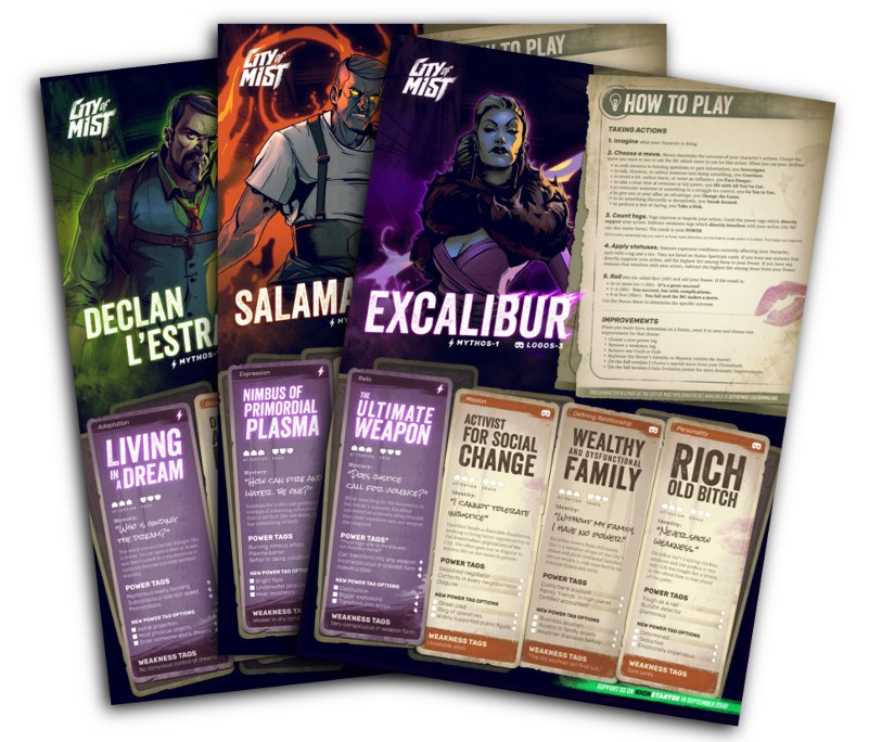 City of Mist RPG Playbooks (Image: Son of Oak Game Studio)