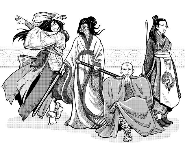 Wandering Heroes of Ogre Gate RPG: Sect (Image: Bedrock Games)