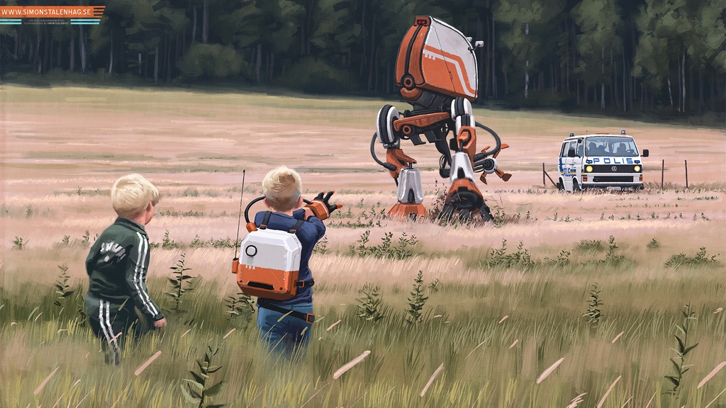 Tales from the Loop RPG: Kids & Robots (Image: Simon Stålenhag - Fria Ligan / Free League Publishing)