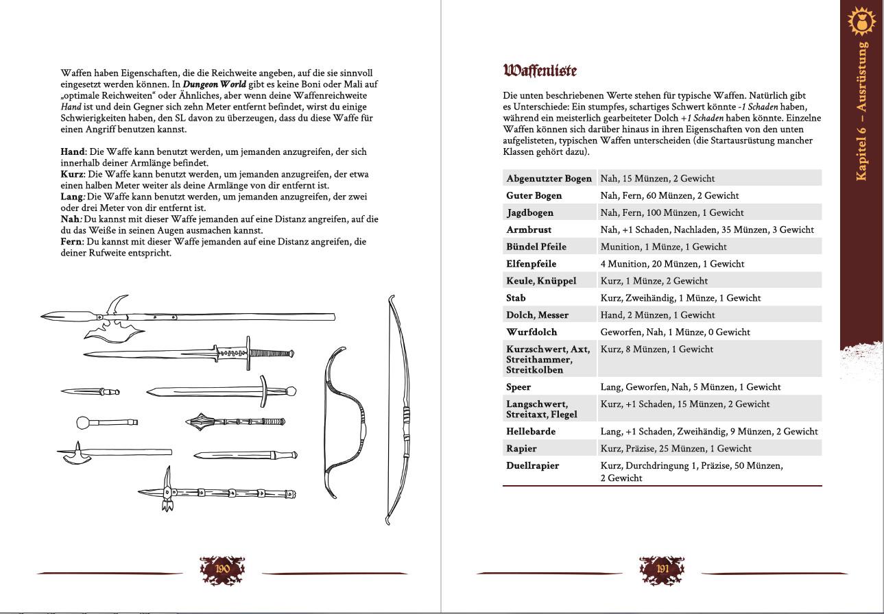Dungeon World: Ausrüstung (Image: System Matters)