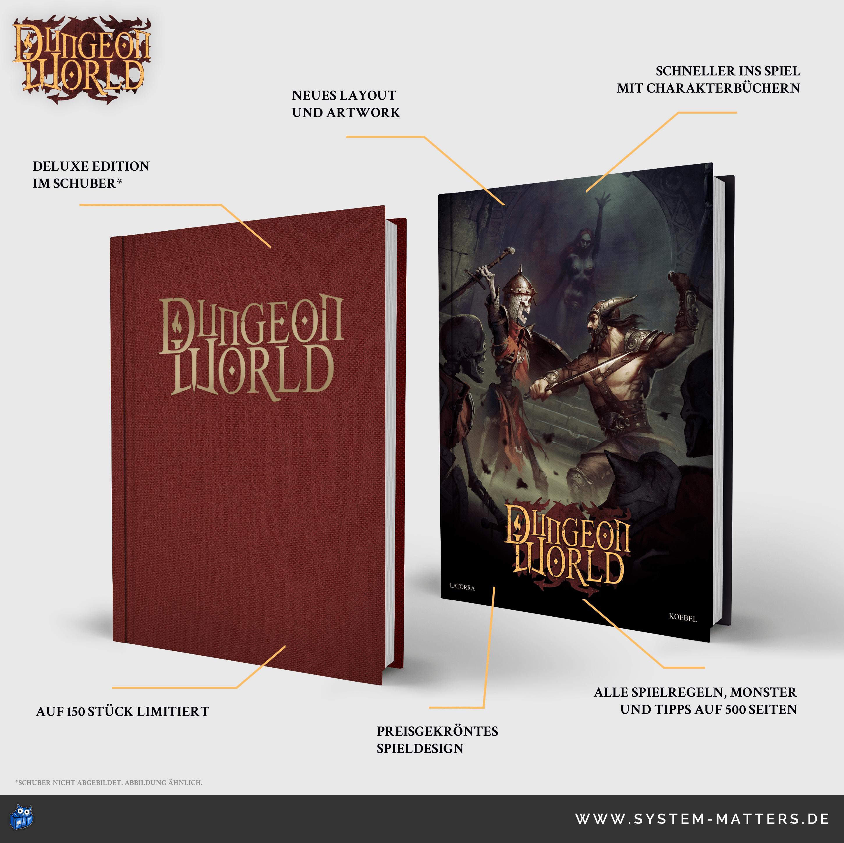 Dungeon World: Standard und Deluxe Edition (Image: System Matters)