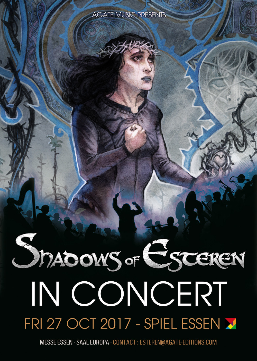 Shadows of Esteren Concert: Adeliane live at the SPIEL 2017 (Image: Agate Music)